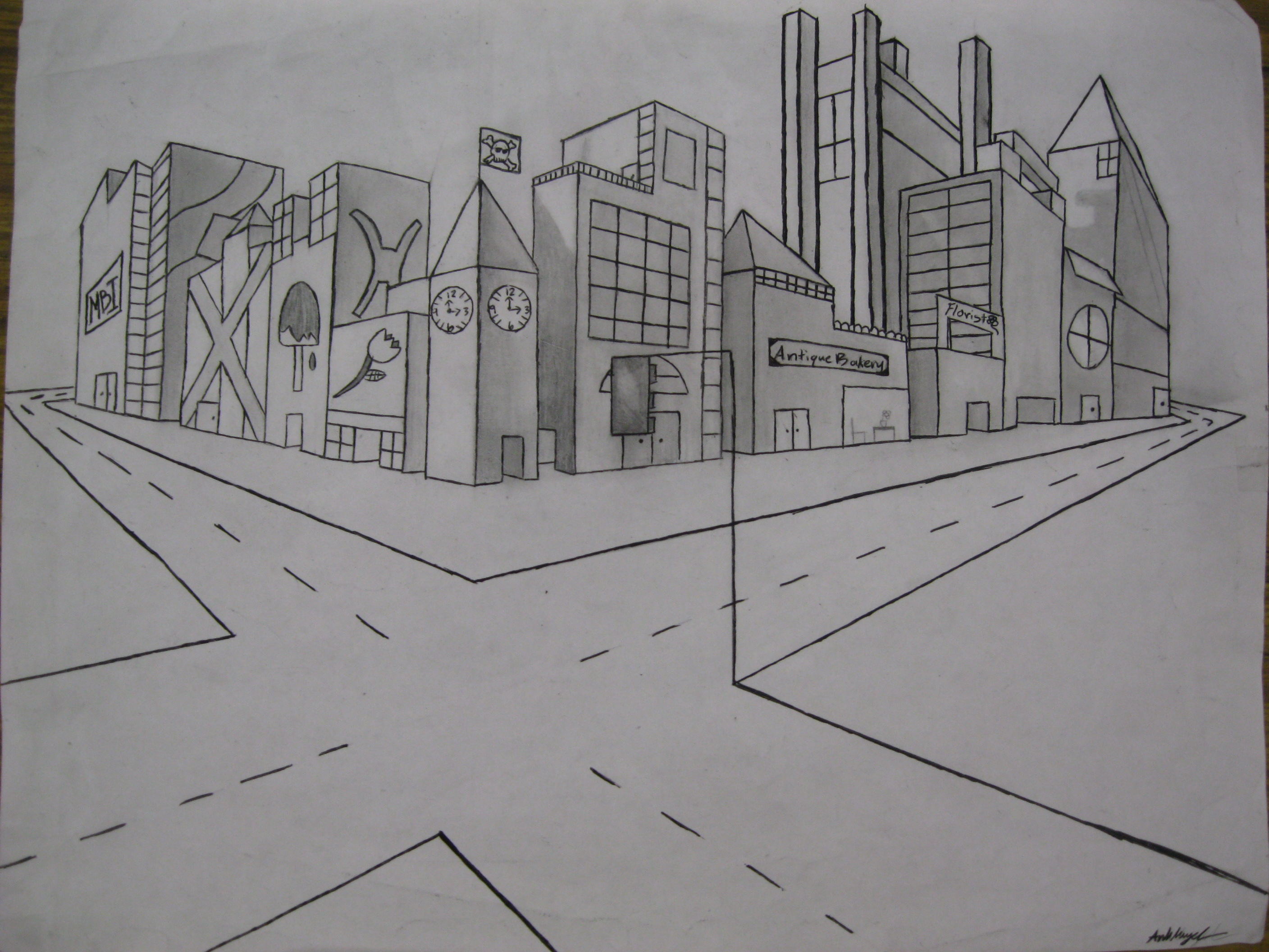 2 Point Perspective Building Drawing http://s2490331.edublogs.org/2012/05/04/perspective-in-vanishing-point-mode/